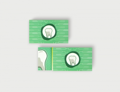百仕牙體技術所名片設計