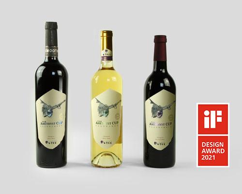 2018紫晶盃冠軍酒-酒瓶包裝-酒標設計