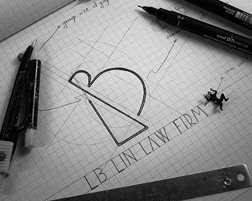 直接了當的美式Logo設計-律師Logo-LB LIN LAW FIRM