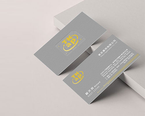 TKap東京應用名片-名片設計-雷雕名片-金墨印刷