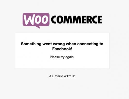 WooCommerce & facebook 同步失敗解法!