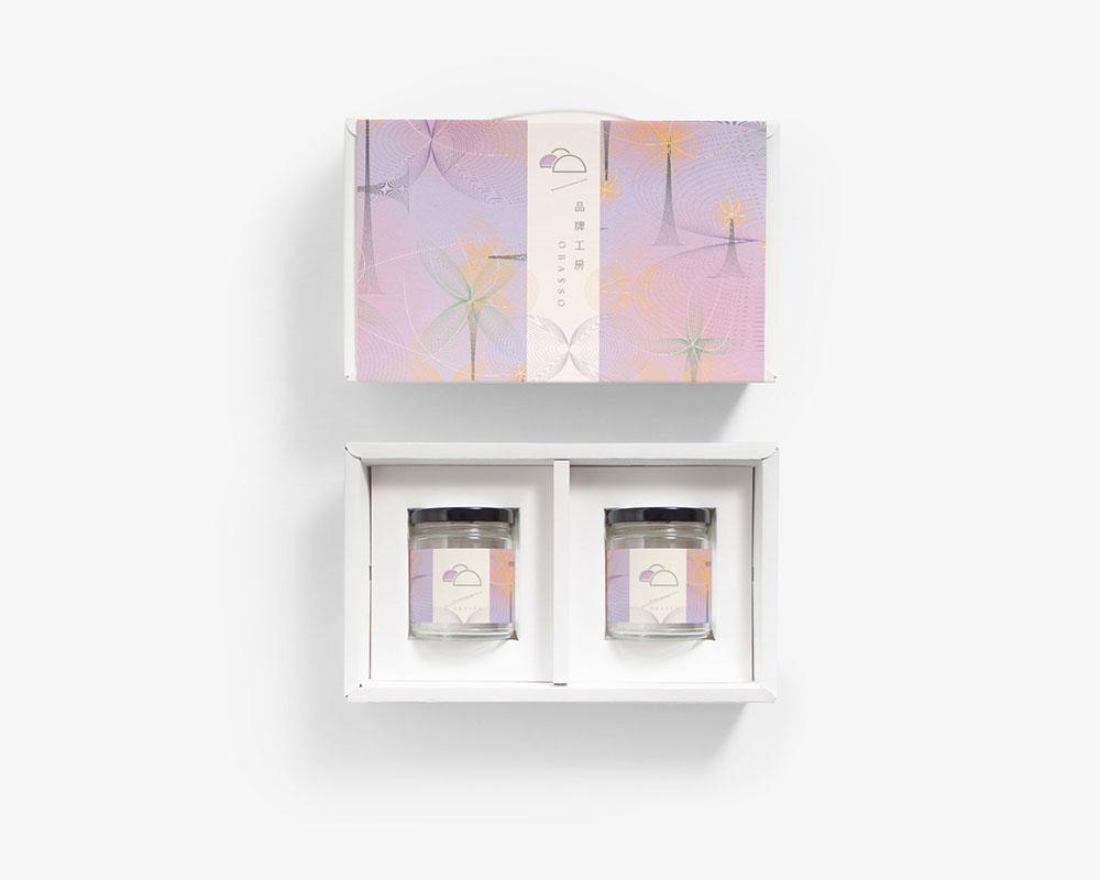 果醬玻璃罐包裝盒 | 金賀新年-紫版 | 附提把 | 果醬包裝設計