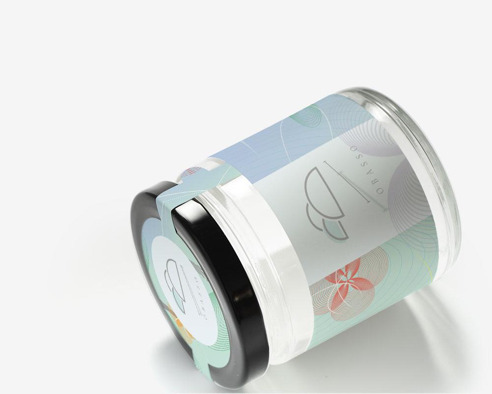 果醬玻璃罐包裝盒   金賀新年-藍版   附提把   果醬包裝設計