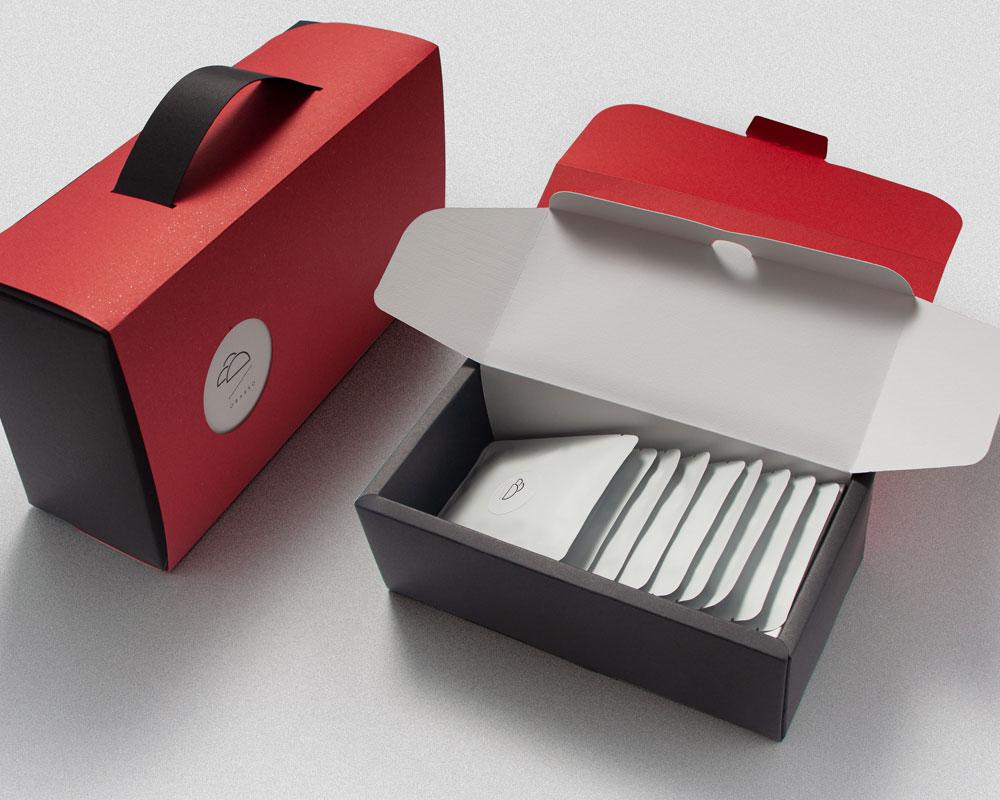 濾掛咖啡包裝盒   紅水黑大扮   附提把免紙袋   咖啡包裝設計