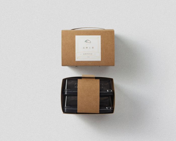1mimi的月餅盒設計 | 牛皮盒 | 可裝100g吸塑盒 | 綠豆椪 | 蛋黃酥