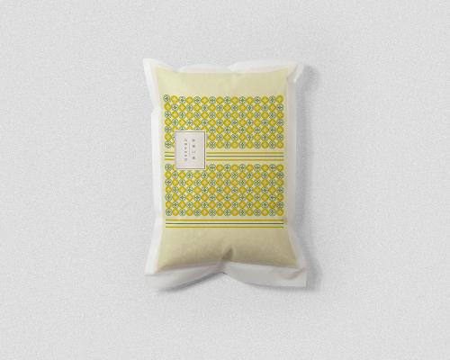 實實在在的 米袋設計 | 黃綠色2kg裝 | 可熱封米袋