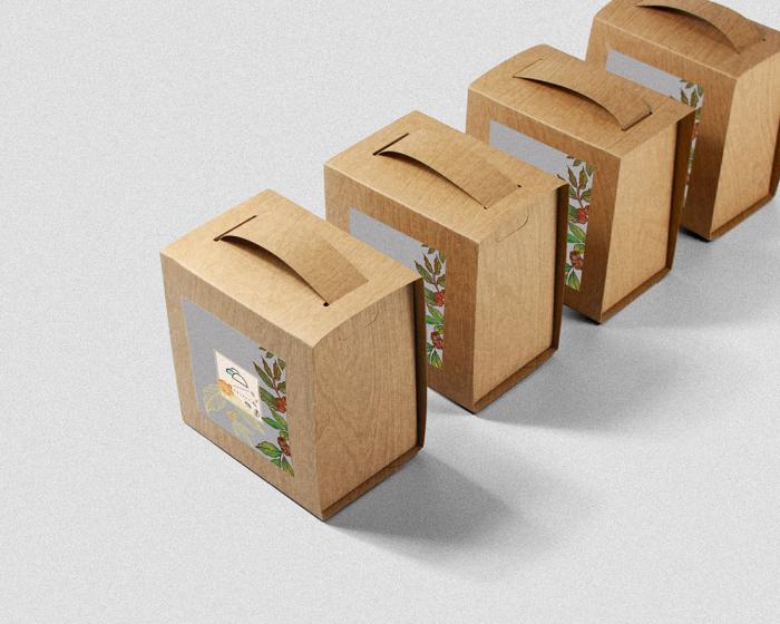 1mimi的 濾掛咖啡盒設計   南洋紛啡木紋   濾掛10入盒   附提把免紙袋