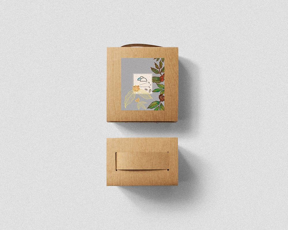 1mimi的 濾掛咖啡盒設計 | 南洋紛啡木紋 | 濾掛10入盒 | 附提把免紙袋